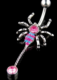 Navel Body Jewelry - Spider Navel Jewelry