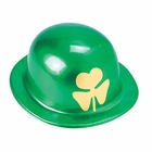 St Patrick's Day Derby Hats with Gold Shamrock (12 Pack)