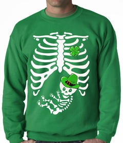 St. Patrick's Day Irish Pregnant Skeleton Crewneck