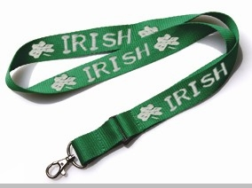 St.Patrick's Day Irish Shamrocks Keychain Lanyard<!-- Click to Enlarge-->