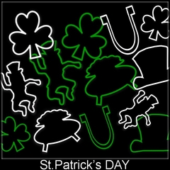 St.Patrick's Day Irish Shapes Rubber Band Bracelet (12 Pack)
