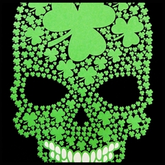 St. Patrick's Day Shamrock Sugar Skull Men's T-Shirt