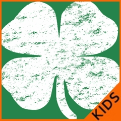 St. Patrick's Day Vintage Distressed 4 Leaf Clover Kids T-shirt