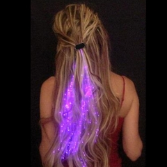 Starlight Strands Illuminating Fiber Optic Hair Extensions & Rave Toy