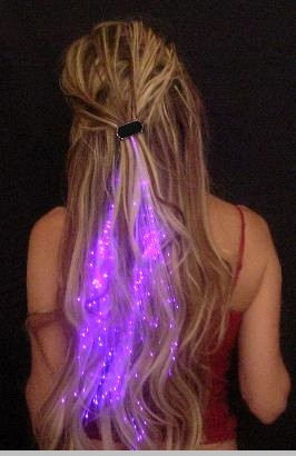 Starlight Strands Illuminating Fiber Optic Hair Extensions & Rave Toy<!-- Click to Enlarge-->