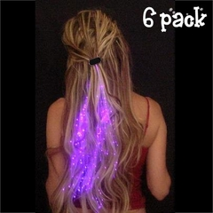 Starlight Strands Illuminating Hair Extensions  ( Set of 6 Hair Strands )
