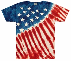 Stars And Stripes Tye Dye T-Shirt