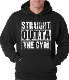 Straight Outta The Gym Adult Hoodie