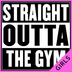 Straight Outta The Gym Ladies T-shirt
