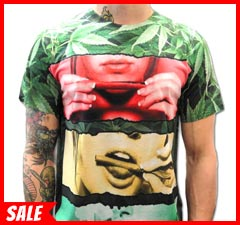 Sublimation Printed Roll It, Lick It, Smoke It All-Over Print Mens T-shirt