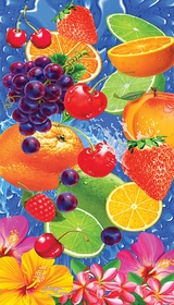 Summer Fruit Salad Velour Beach Towel