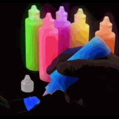 Super Glow in the Dark Paint Set  (Includes 6 Colors)