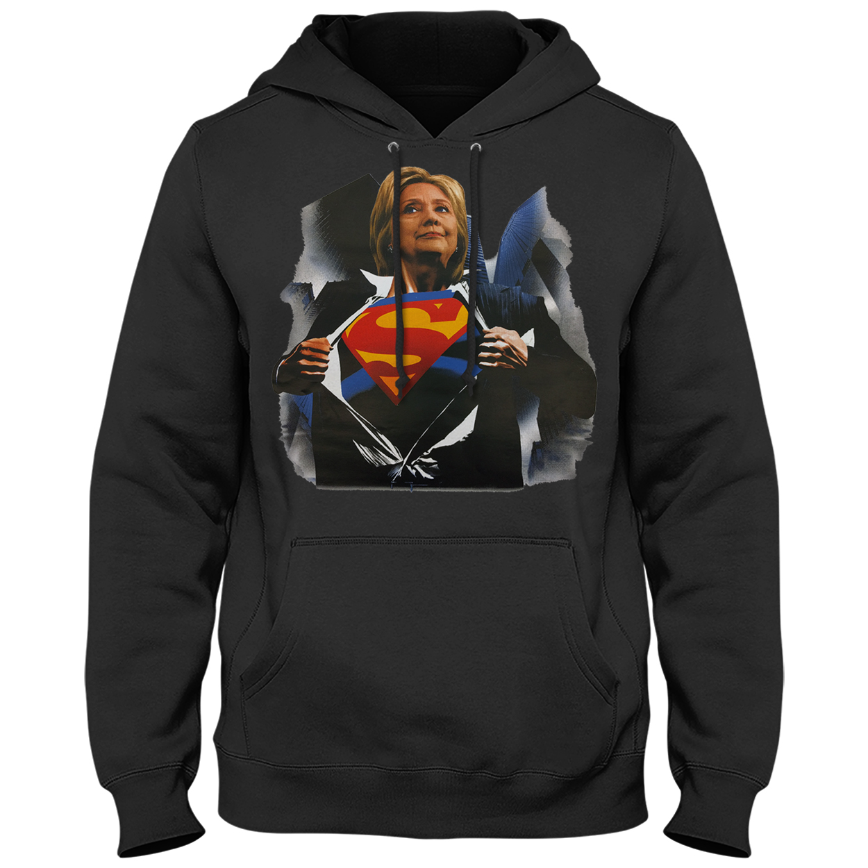 Super Hillary Election 2016 Adult Hoodie