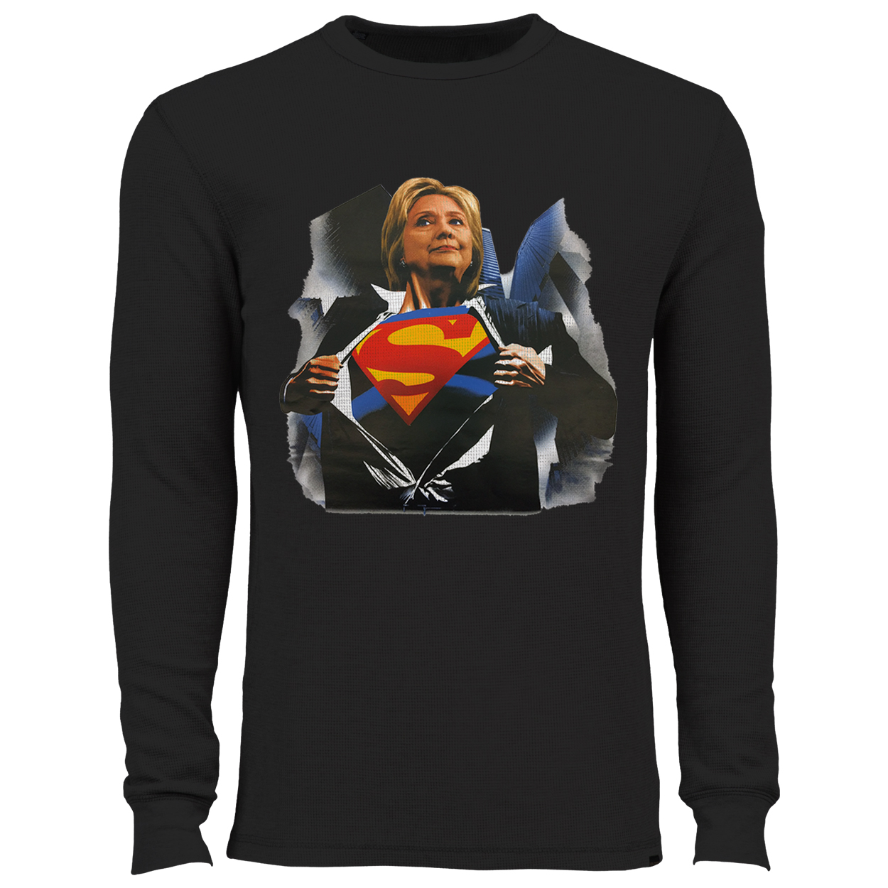 Super Hillary Election 2016 Thermal Shirt