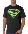 Superman Krypton Lightning Men's T-Shirt (Black)