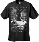 "Superman Man of Steel ""Red Eyes"" Men's T-shirt on Black"
