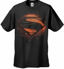"Superman Man of Steel ""Super Spray�  Men's T-shirt on Black"