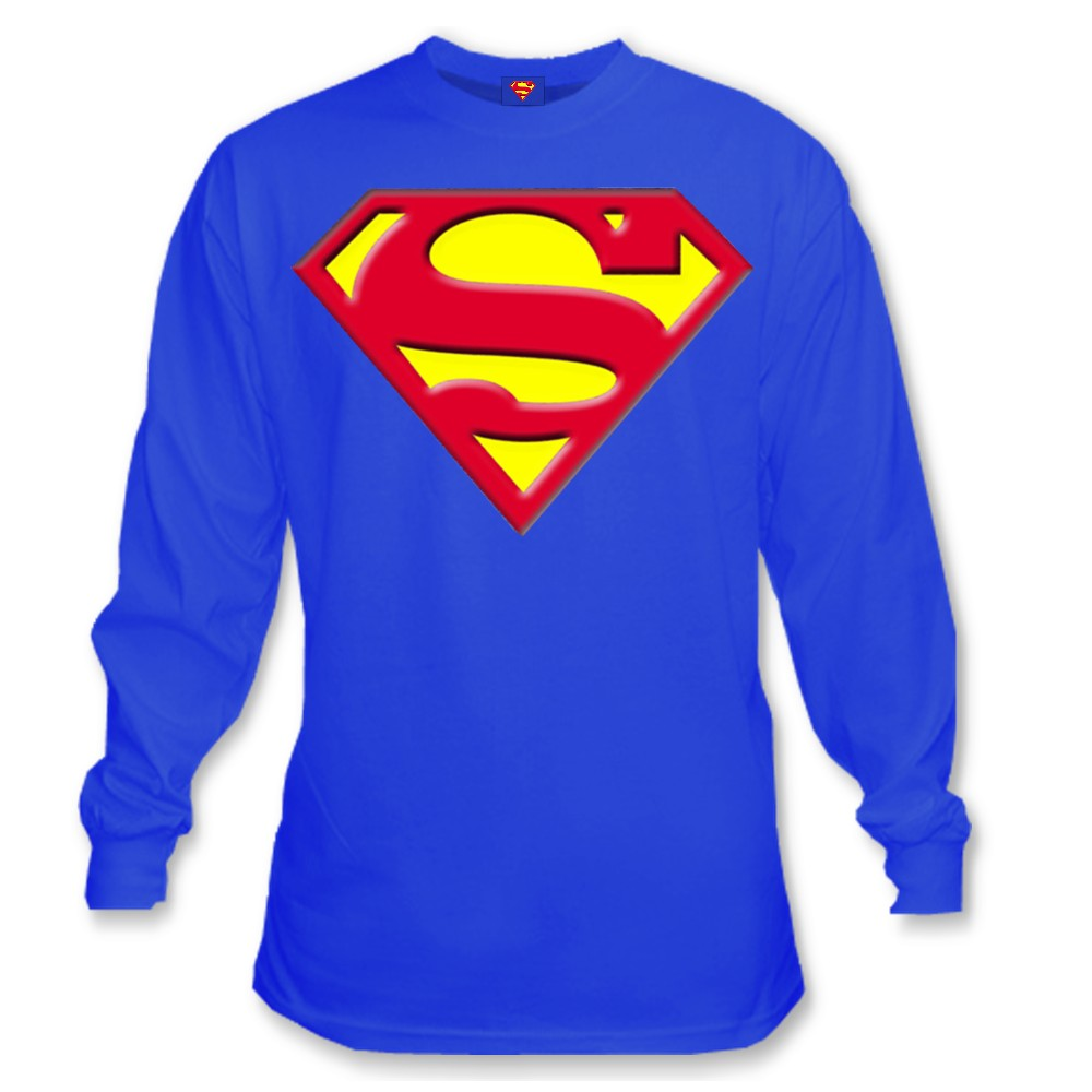 Superman Quot S Logo Quot Long Sleeve T Shirt