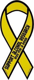 Support Alcohol Research Car Ribbon Magnet