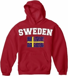 Sweden Vintage Flag International Hoodie