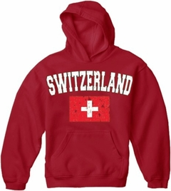 Switzerland Vintage Flag International Hoodie