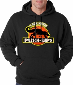 T-Rex Hates Pushups Funny Adult Hoodie