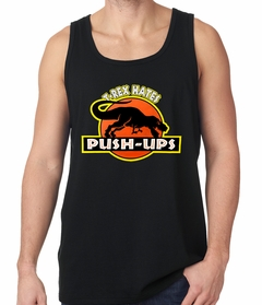 T-Rex Hates Pushups Funny Tank Top