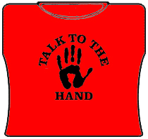 Talk To The Hand Girls T-Shirt