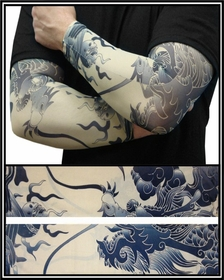 Tattoo Sleeves - Dragon of China Temporary Tattoo Sleeves (Pair)