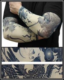 Tattoo Sleeves - Phoenix of Fury Temporary Tattoo Sleeves (Pair)