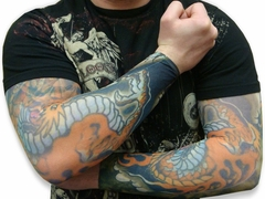 Tattoo Sleeves - Red Dragon  Tattoo Sleeves (Pair)