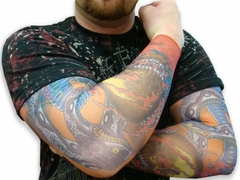 Tattoo Sleeves - Snake & Skulls Tattoo Sleeves (Pair)