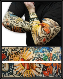 Tattoo Sleeves - The Fast Lane Temporary Tattoo Sleeves (Pair)