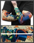 Tattoo Sleeves - Top Hat Skeleton Temporary Tattoo Sleeves (Pair)