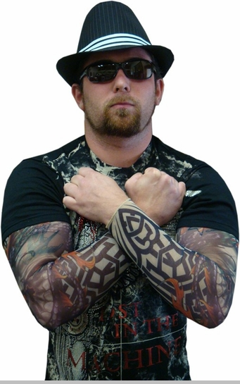 Tattoo Sleeves - Tribal Biker Tattoo Sleeve (Pair)<!-- Click to Enlarge-->