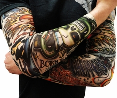 Tattoo Sleeves - Vintage Rockabilly Fake Tattoo Sleeves (Pair)
