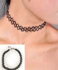 Tattoo Stretch Choker With Clasp