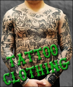 Temporary Fake Tattoos and Sleeves Tattoo Clothing :: Slip on Tattoo Sleeves