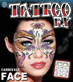 Temporary Face Tattoos - Beautiful Carnival Face