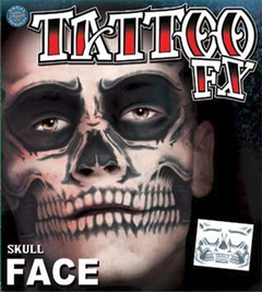 Temporary Tattoos Face Tattoo - Full Skull Face Tattoo