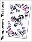 Temporary Tattoos | Full Back Temporary Tattoos | Temporary Face Tattoos