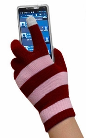 Texting Gloves - Pair of Gloves for Touch Screens (Two-Tone Pink)