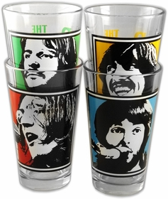 The Beatles Commemorative Collector's Series Pint Glasses (4 Pack)