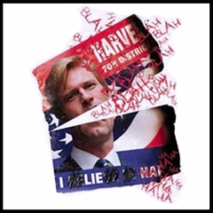 "The Dark Knight ""Harvey Dent Defiled Campaign Poster"" T-Shirt"