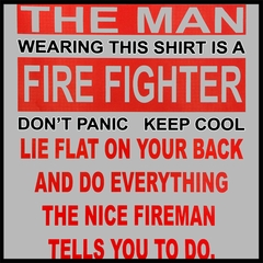 The Nice Firefighter Men's T-Shirt