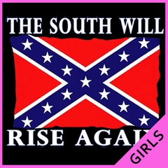 The South Will Rise Again Confederate Flag Girls T-shirt