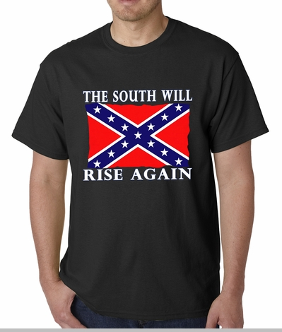The South Will Rise Again Confederate Flag Mens T-shirt<!-- Click to Enlarge-->