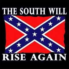 The South Will Rise Again Confederate Flag Mens T-shirt