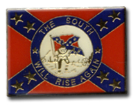 The South Will Rise Again Lapel Pin