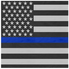 "Thin Blue Line Flag Bandana (22x22"")"